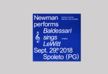 Newman performs Baldessarri sings Lewitt Sept. 29th, 2018 Spoleto (PG)
