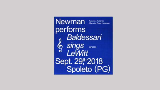 Newman performs Baldessarri sings Lewitt Sept. 29th, 2018 Spoleto (PG)
